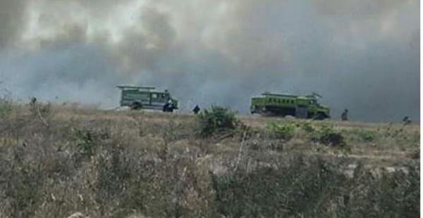 El incendio fue controlado por bomberos voluntarios de Trinidad