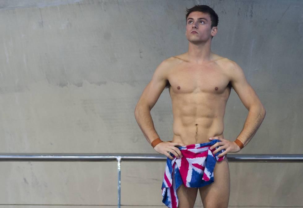 Tom Daley en un momento de la competición, el pasado mes de mayo, en el campeonato europeo de salto celebrado en Londres.