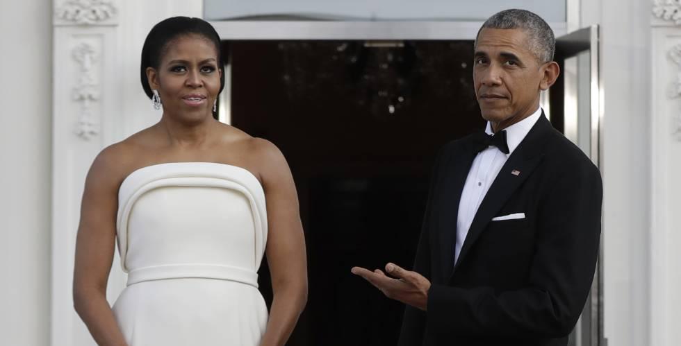 Michelle y Barack Obama, en la cena de Estado del pasado martes.