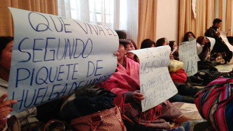 El segundo piquete de huelga de hambre. Foto: Gobernación La Paz