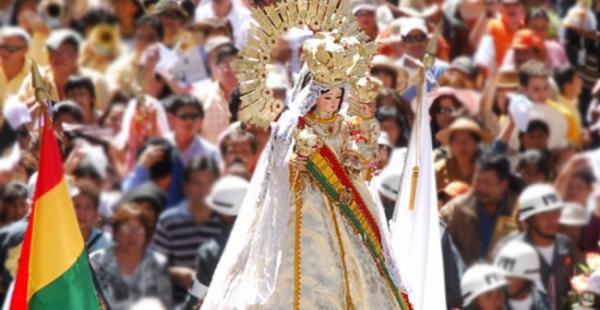 La fiesta de la virgen de Urcupiña se ha vuelto en un acto de fe y de folclore nacional