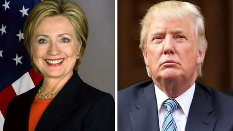 Hilary Clinton (izq.) y Donald Trump.