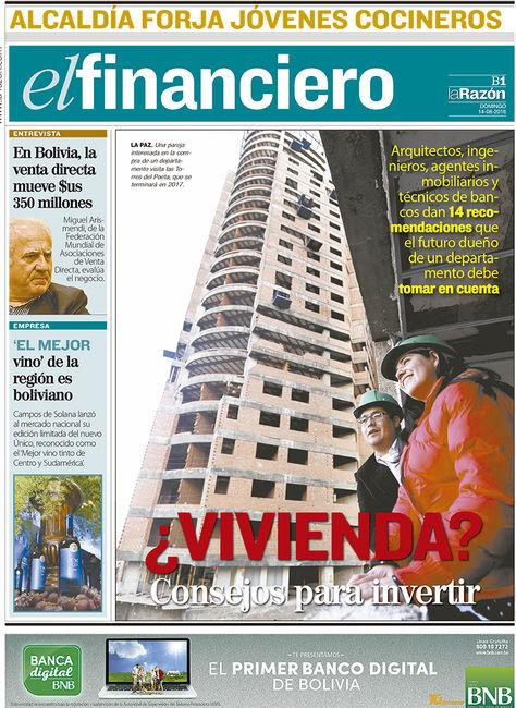 Portada de El Financiero, domingo 14 de agosto de 2016