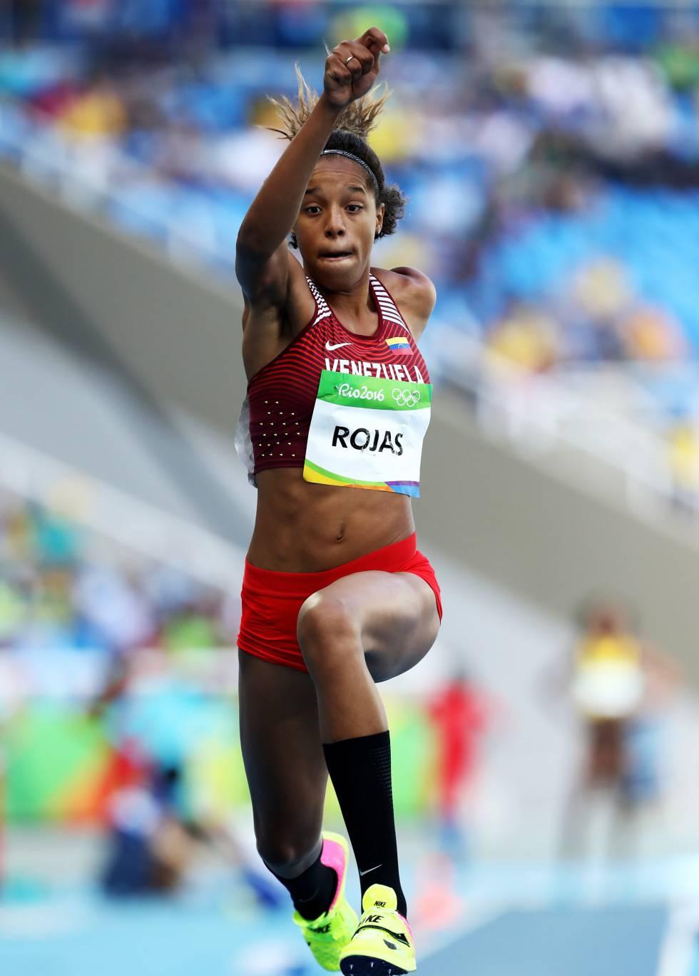 La atleta venezolana Yulimar Rojas