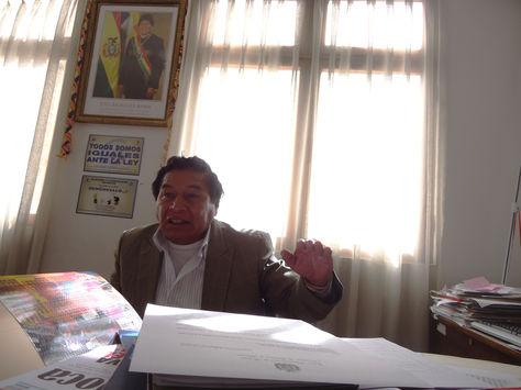 El viceministro de Descolonización, Félix Cárdenas, en entrevista con La Razón.