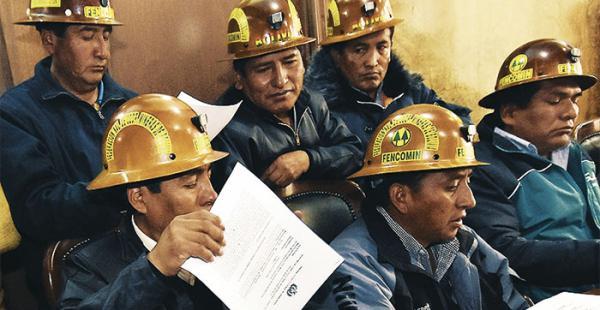 Los mineros están contra una ley