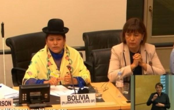 Ministra dice en NNUU que en la caravana de discapacitados hay cuestiones político partidarias