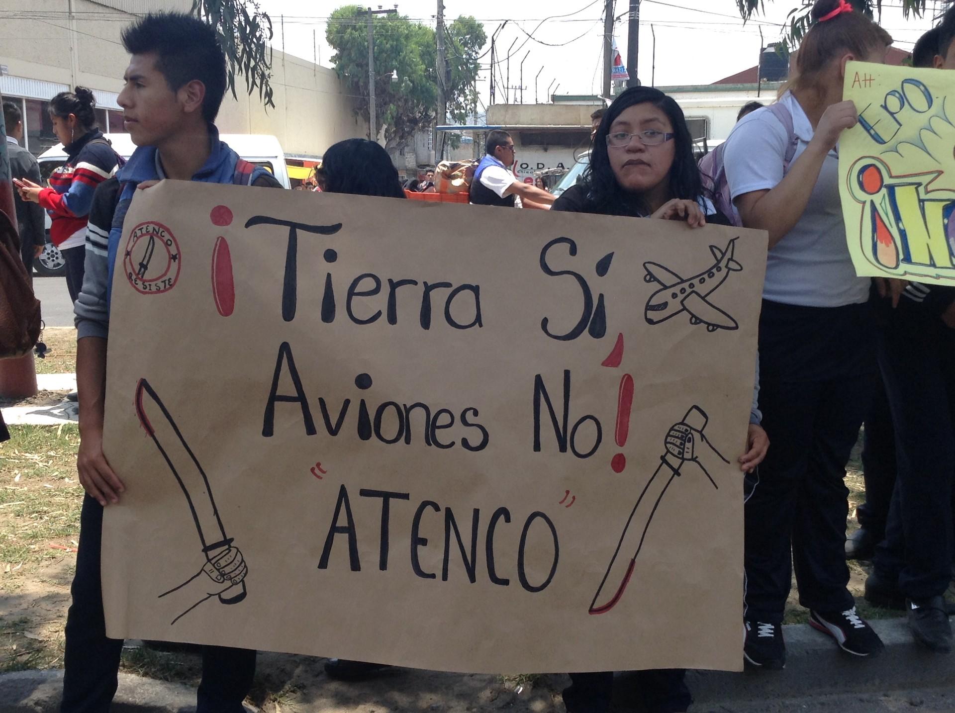 Manifestación contra Nuevo Aeropuerto de la Ciudad de México.