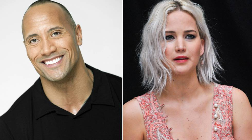 Dwayne Johnson y Jennifer Lawrence