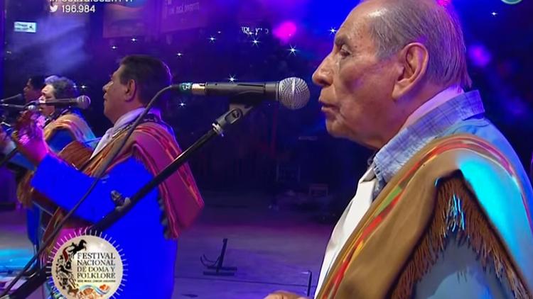 Guillermo Reynoso del conjunto argentino de música folclórica Los Manseros Santiagueños