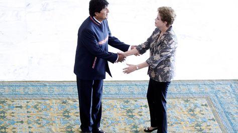 La presidenta Dilma Rousseff junto a su homólogo Evo Morales en una fotografía de archivo.