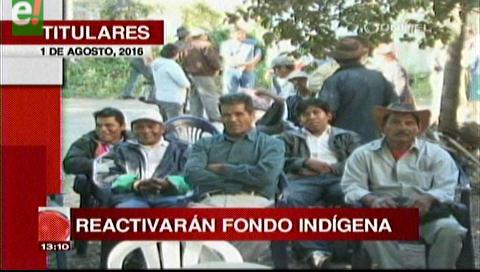 Titulares de TV: Reactivarán el Fondo Indígena