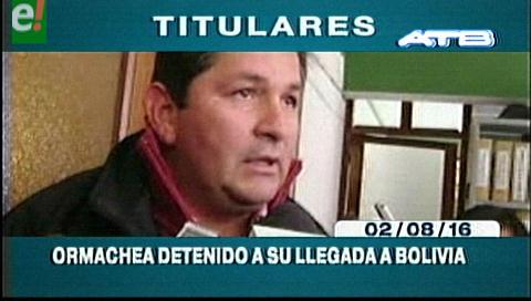 Titulares de TV: Ormachea se acogió a su derecho al silencio en declaración ante la Fiscalía