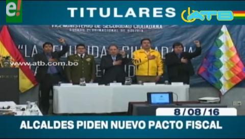 Titulares de TV: Alcaldes piden nuevo pacto fiscal y redistribución de recursos  económicos