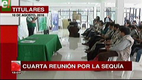 Titulares de TV: Gobernación cruceña y  productores volverán a reunirse con municipios afectados por la sequía