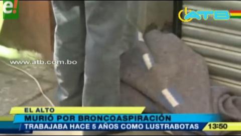 Encuentran muerto a un lustrabotas en El Alto