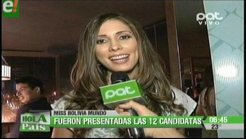 Presentaron a las candidatas del Miss Bolivia Mundo 2016