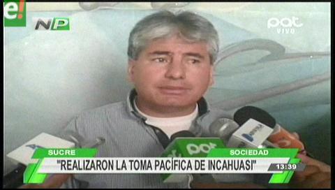 Comunarios de Caraparicito toman pacíficamente megacampo Incahuasi