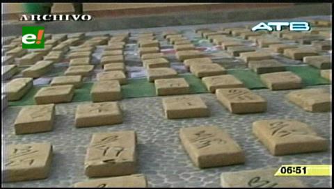 Las 7,5 toneladas de cocaína decomisada en Bolivia tenían un valor de $us 379 millones en EEUU