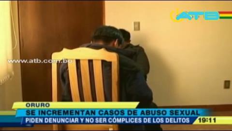 10 menores son abusados sexualmente al mes en Oruro