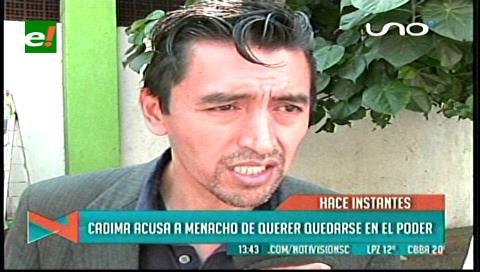 Uagrm: Cadima acusa a Menacho de querer perpetuarse en el Rectorado
