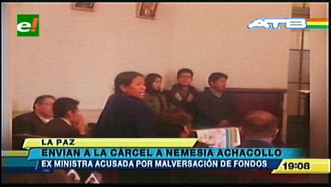 Achacollo es enviada a la cárcel de Palmasola por decisión judicial