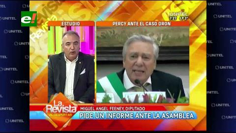 Diputado Feeney pide un informe oral a Percy Fernández por el Caso Dron