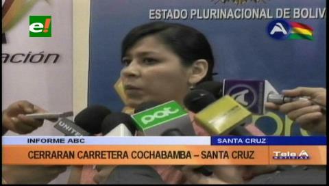 ABC anuncia cierre de carretera Santa Cruz-Cochabamba por 12 horas