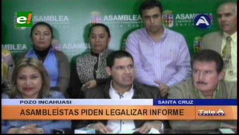 ALD cruceña pide legalizar el informe sobre Incahuasi