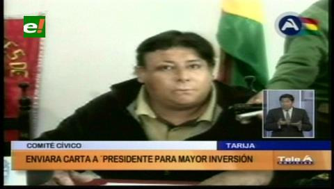 Cívicos envían carta a Evo para hablar de la crisis en Tarija