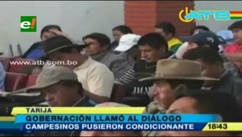 Campesinos ratificaron bloqueo de carreteras en Tarija