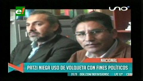 Patzi niega responsabilidad sobre uso de vehículo tras ser convocado a declarar