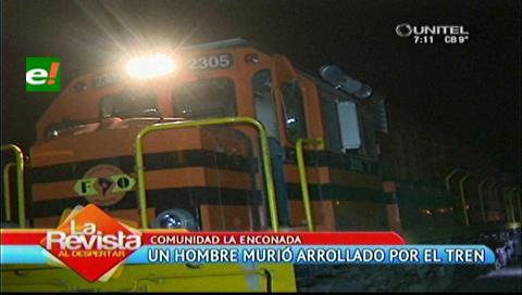 Cotoca: Hombre muere arrollado por el tren en la comunidad de La Enconada