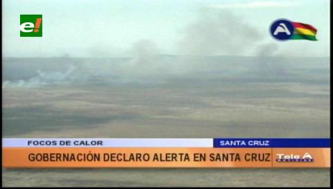 Alerta: 42 focos de quema en el departamento de Santa Cruz