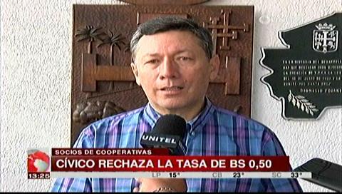 Cívicos piden anulación del decreto que cobra Bs 0,50 a socios de cooperativas