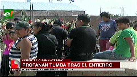 Santa Cruz: Denuncian la profanación de tumbas en el cementerio San Cayetano