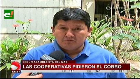 Asambleísta Muñoz: Las cooperativas pidieron el cobro a los socios
