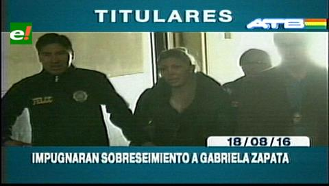 Titulares de TV: Gobierno apelará sobreseimiento de delitos a Gabriela Zapata