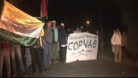 Un grupo de indígenas bloquean Ascensión de Guarayos