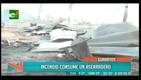 Dos aserraderos ardieron en Ascensión de Guarayos