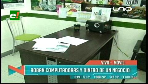 Santa Cruz: Roban computadoras y dinero de una empresa ubicada en el centro de la ciudad