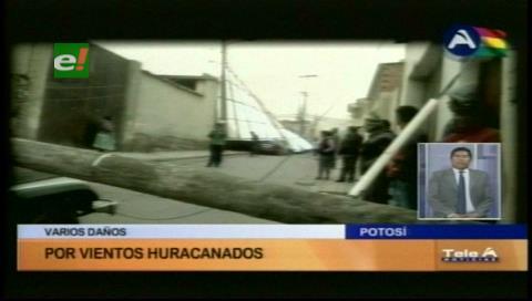 Potosí: Reportan destrozos en varias viviendas por los fuertes vientos