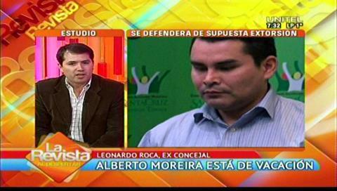 "Ex concejal Roca ve que las vacaciones de Moreira son un ""retiro forzoso"""
