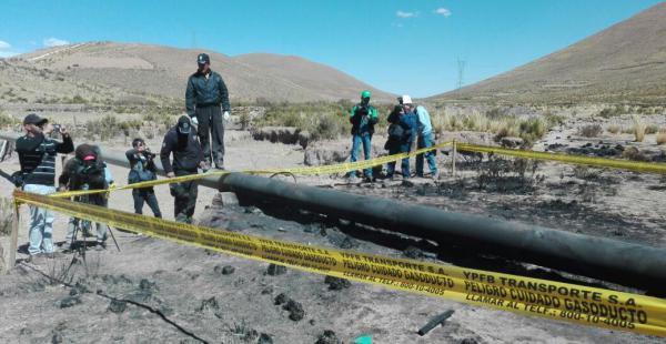 La Policía junto a la Fiscalía inspeccionó los ductos que fueron afectados durante el conflicto con los cooperativistas