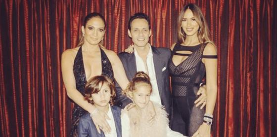 Jennifer Lopez, Marc Anthony, Shannon De Lima, Max, Emme