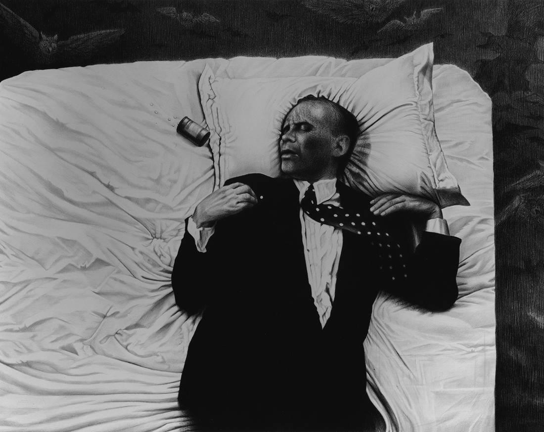 Laurie Lipton, lápiz, dibujo, 'The Sleep of Reason 2003' ('El sueño de la razón 2003'), carboncillo y lápiz sobre papel, 72.3x98.3cm / 28.5