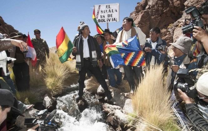 """Evo Morales invita a autoridades del Gobierno chileno a visitar los """"manantiales"""" del Silala"""