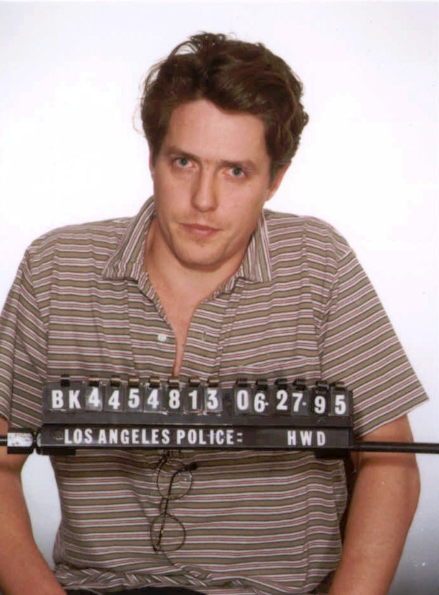 Ficha policial de Hugh Grant