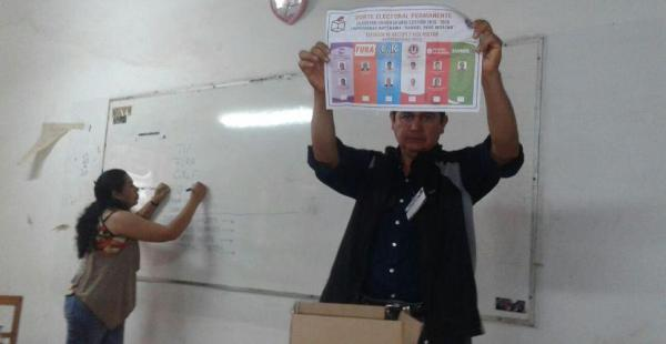 Comienza el conteo de votos en San Ignacio de Velasco, los resultados recién se conocerán a las 18:00