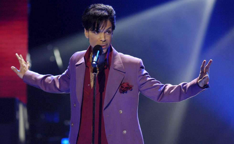 Prince, en una actuación.